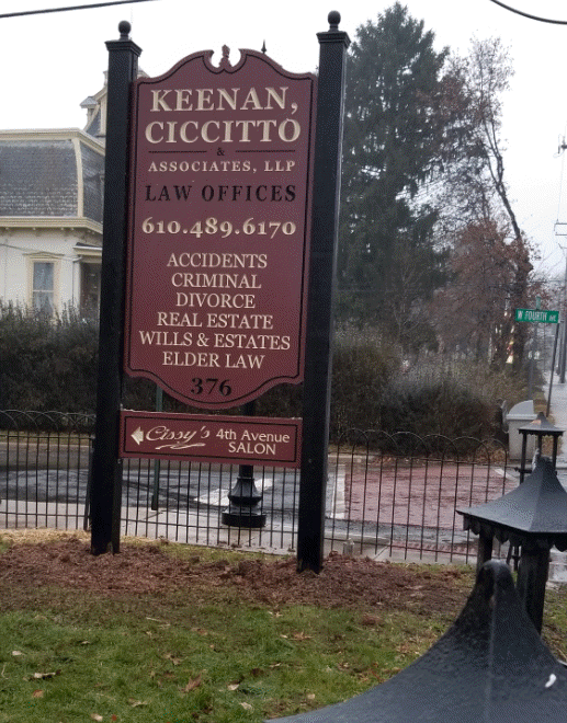 keenan law offices collegeville pa